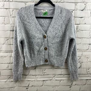Garage mohair like fuzzy cropped sweater
